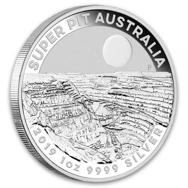 Australien Super Pit 1 Oz Silber 2019 *