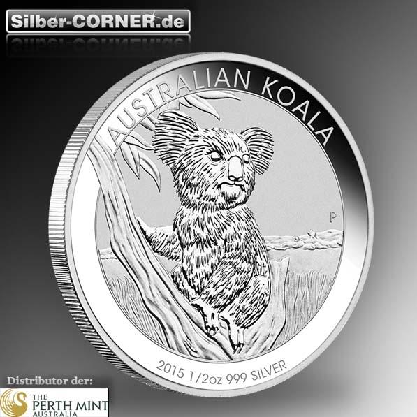 Koala 2015 1/2 Oz Silber *