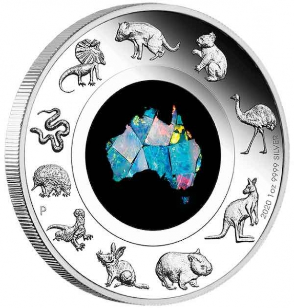 Great Southern Land 1 Oz Silber Proof - OPAL -*