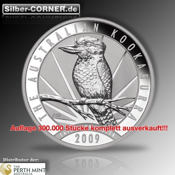 2009 Kookaburra 1 Oz Silber