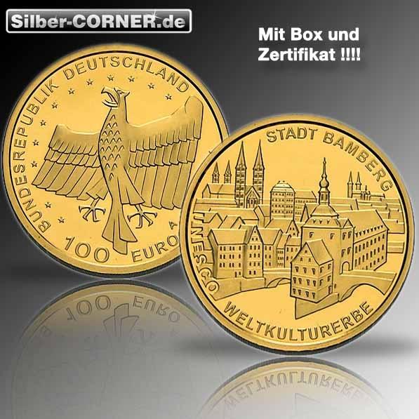 100 Euro 2004  Bamberg 1/2 Oz Gold