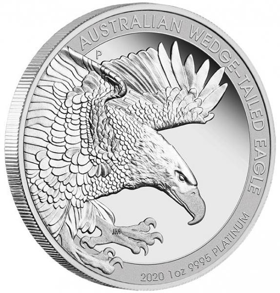 Wedge Tailed Eagle 1 Oz Platin 2020 Proof +Box +COA