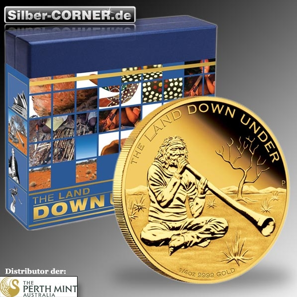 The Land Down Under 1/4 Oz Gold Digeridoo Proof Coin