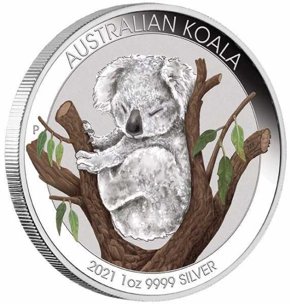 Brisbane Coin Show Koala 1 Unze Silber 2021 +Box +COA*