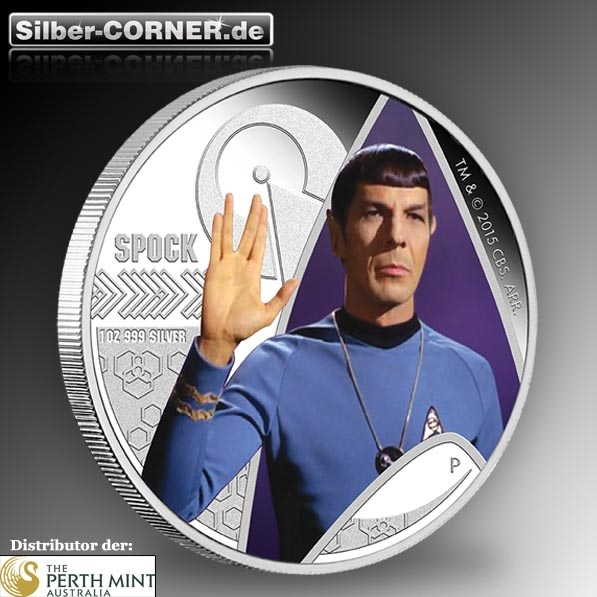 Star Trek The Original Series Spock 1 Oz Silber Proof *