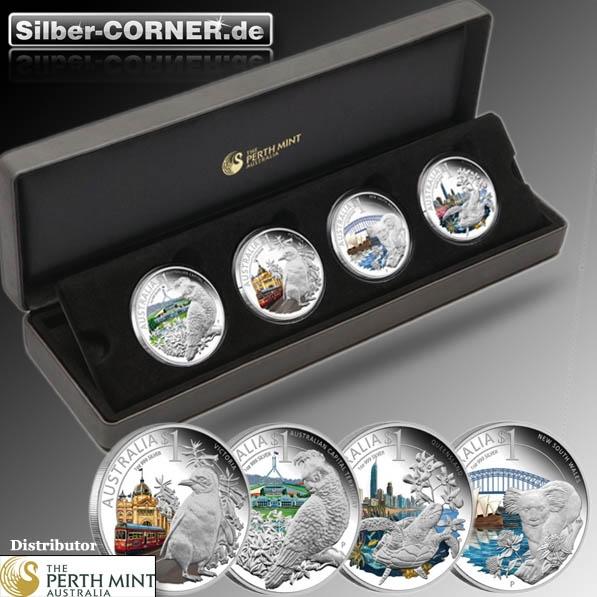 Celebrate Australia 4 Coin Set Silber Proof*