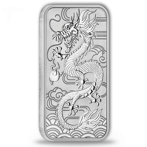 Drache 1 Oz Silber 2018 - Rectangular *