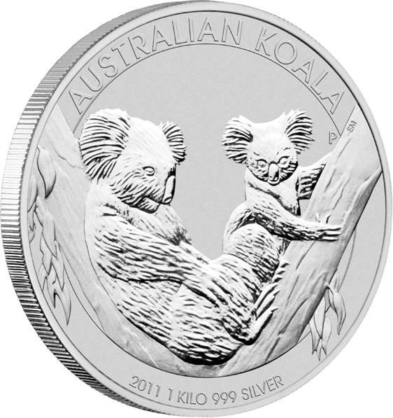 Australien Koala 1 KG Silbermünze 2011