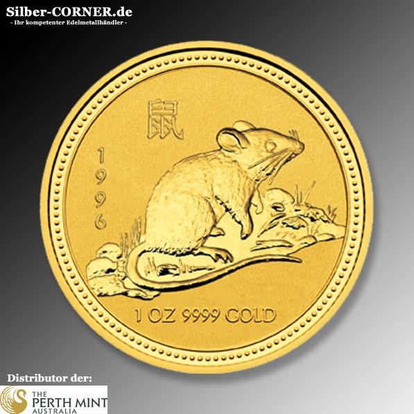 Lunar I Ratte 1/10 Oz Gold