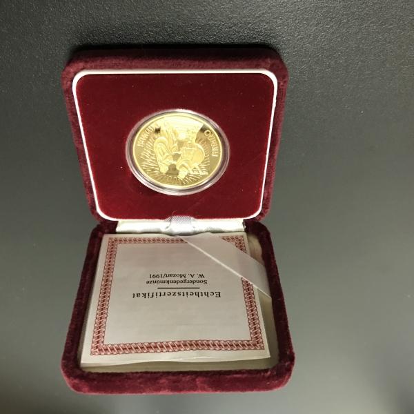 1000 Schilling/ 100 Euro Österreich 986/1000 Gold 16 Gramm