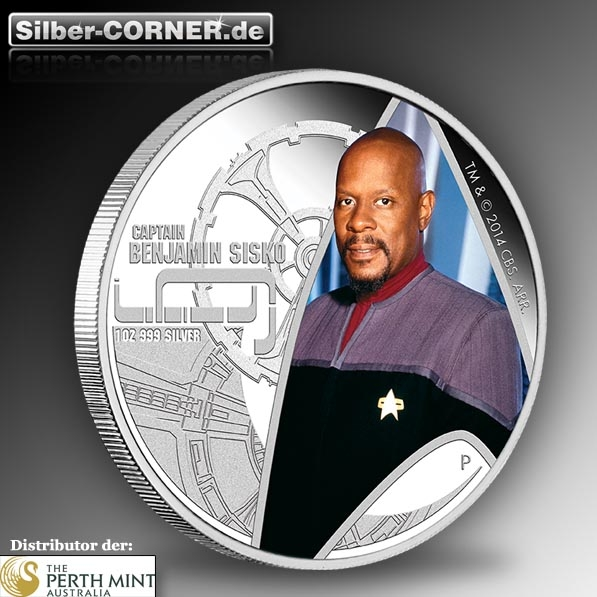 Star Trek Deep Space Nine Cap. Sisko 1 Oz Silber Proof *