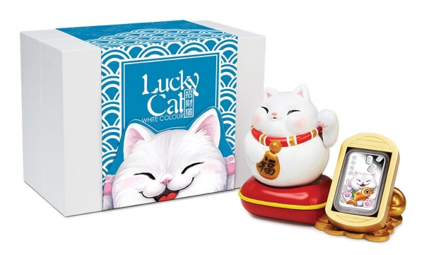 Lucky Cat 1 Oz Silber Proof 2020 +Box +COA *