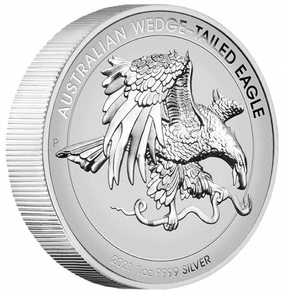 Wedge Tailed Eagle Enhanced Reverse Proof 1 Oz Silber 2021 + Box + COA