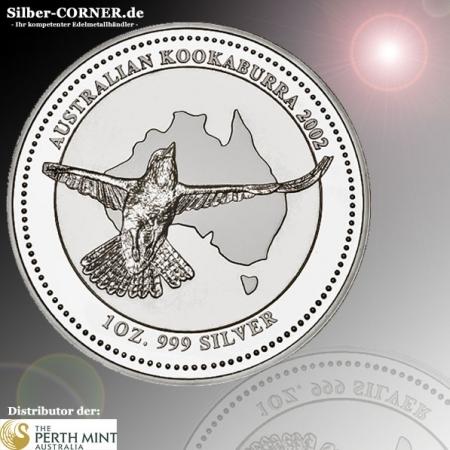 1 Oz Silber Kookaburra 2002