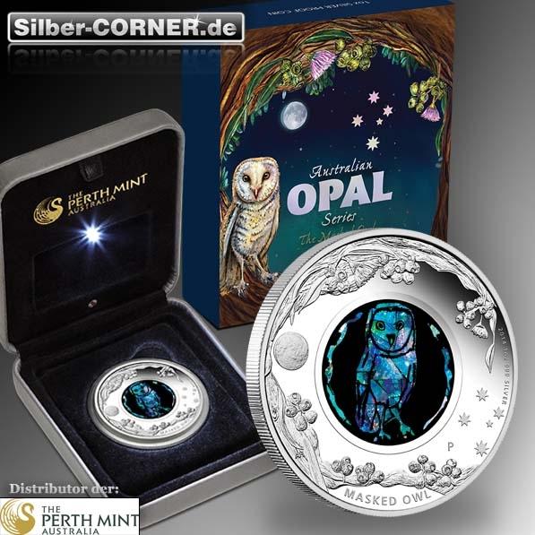 Opal Serie Masked Owl 1 Oz Silber