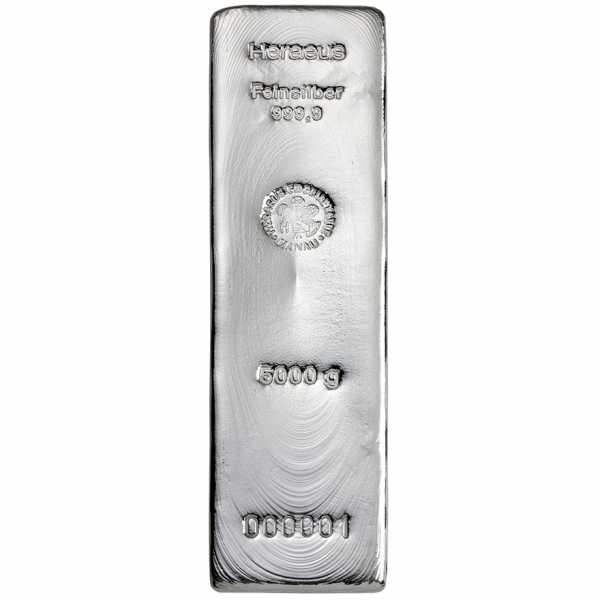 5 KG Silberbarren Argor Heraeus