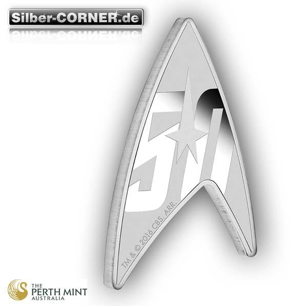 Star Trek - 50 Jahre - Delta Coin 1 Oz Silber + Acrylbox*