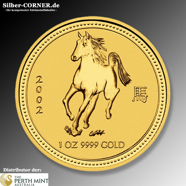 Lunar I Pferd 2002 1/10 Oz Gold