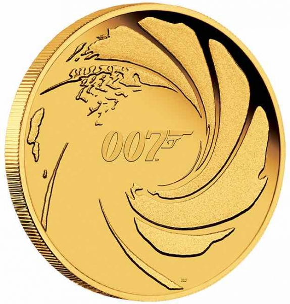James Bond 007 1/4 Oz Gold Proof 2020 +Box +COA