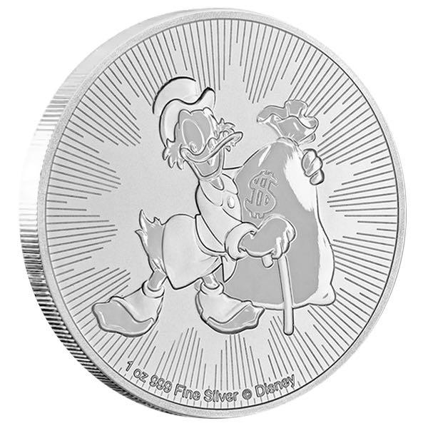 Dagobert Duck 1 Oz Silber *