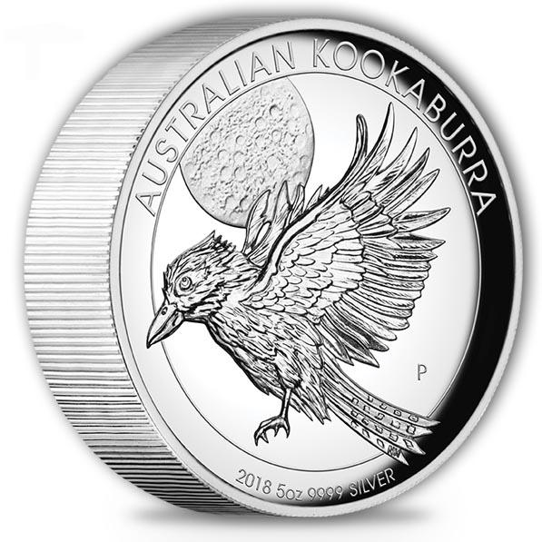 Kookaburra - High Relief -5 Oz Silber 2018 +Box +COA *