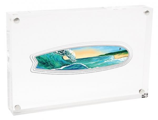 Surfboard 2 Oz Silber 2020 + Box +COA*