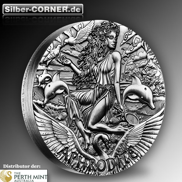 Goddesses of Olymp - Aphrodite 2 Oz Silber High Relief*