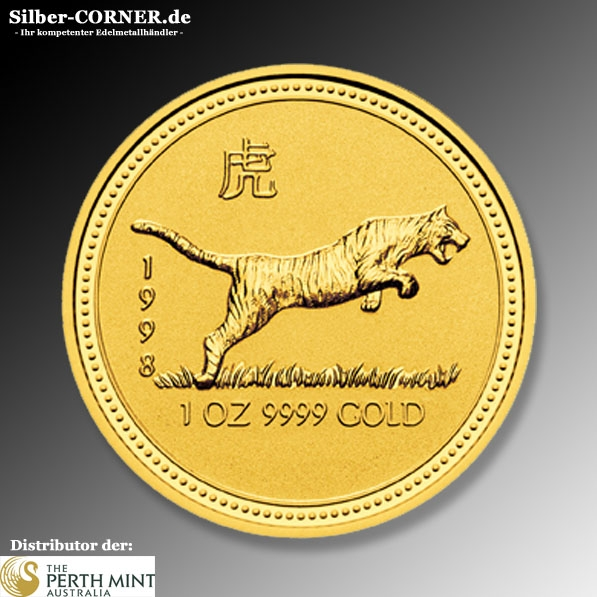 Lunar I Tiger 1998 1/10 Oz Gold