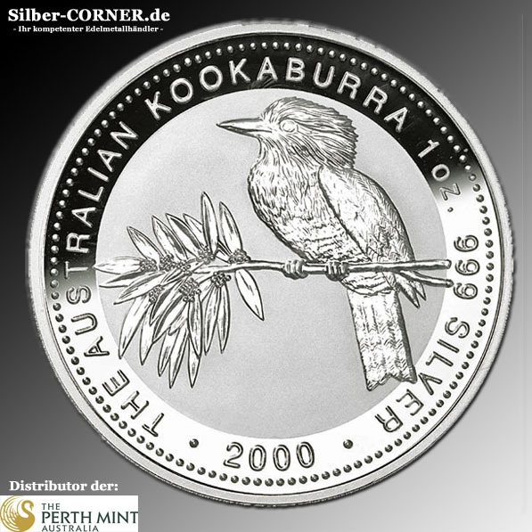 Perth Mint 1 OZ Kookaburra 2000
