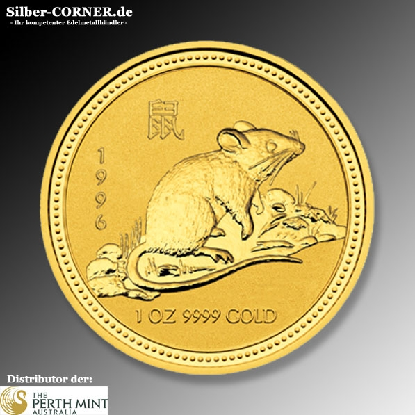 Lunar Ratte 1996 1 Oz Gold