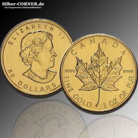 ältere Jahrgänge Maple Leaf Gold 1 Oz