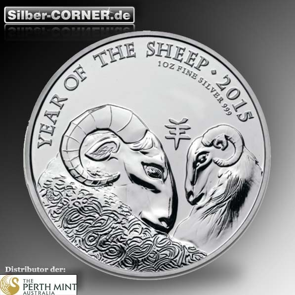 Lunar Schaf 2015 1 Oz Silber Royal Mint