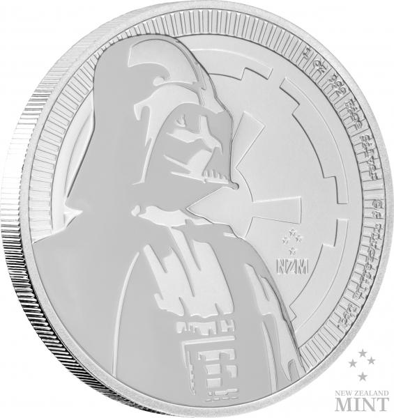 Star Wars - Darth Vader - 1 Oz Silber 2017 *