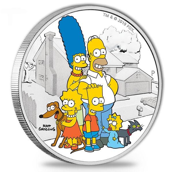 Simpsons - Family - 2 Unzen Silber Proof +Box +COA *
