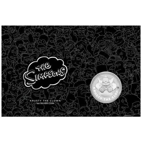 The Simpsons Krusty - 1 Oz Silber mit Blister 2020*