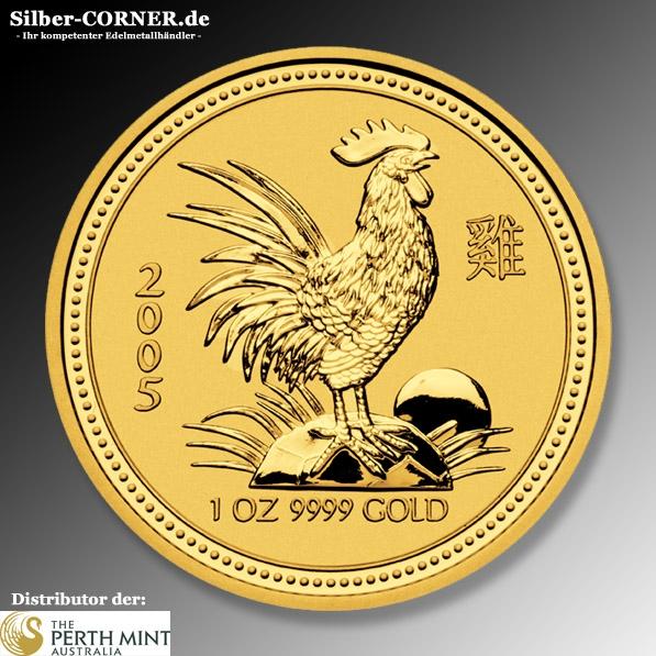 Lunar Hahn 2005 1 Oz Gold