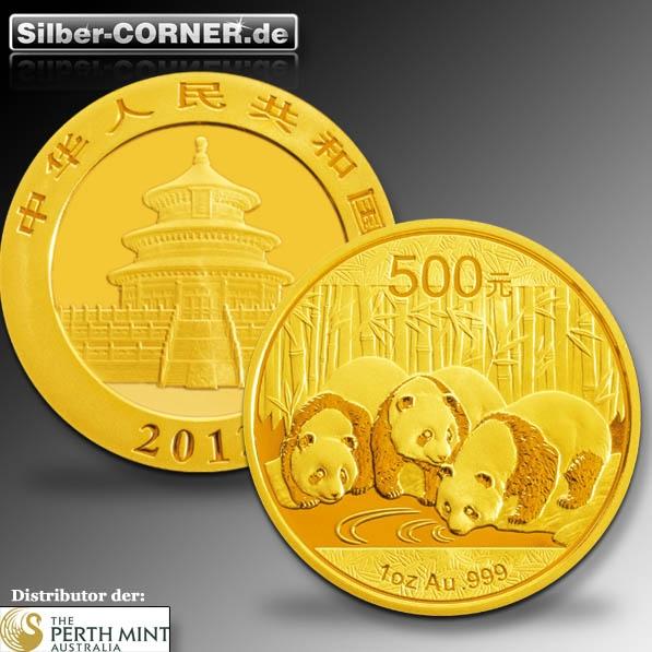 China Panda Gold 2013 1/10 Oz