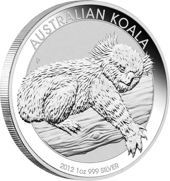 Australien Koala 1 Unze Silbermünze 2012