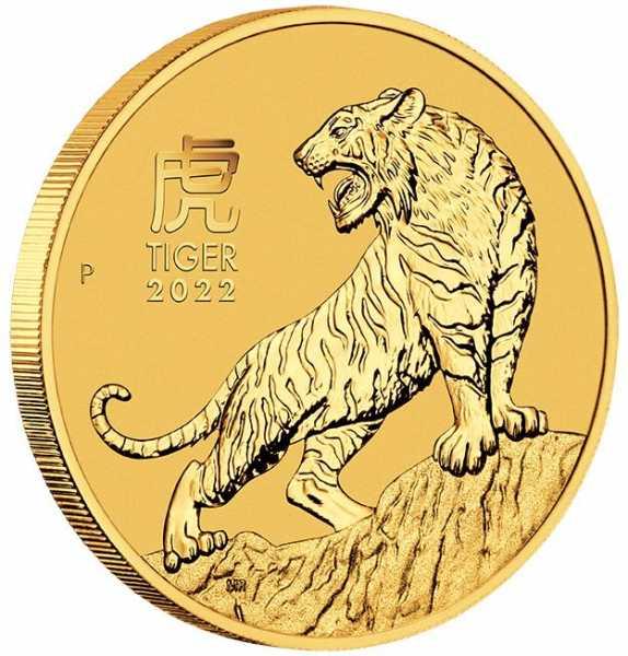 Lunar 3 Tiger Perth Mint 1/10 Unze Goldmünze 2022