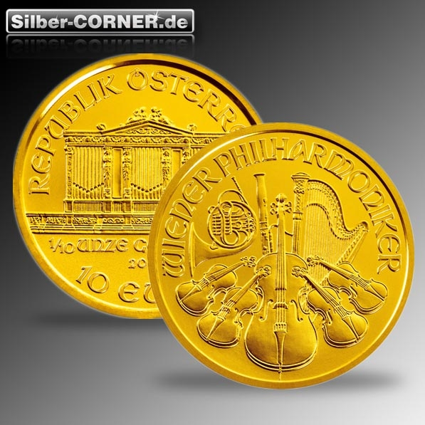 Philharmoniker 1/10 Oz Gold div.Jg