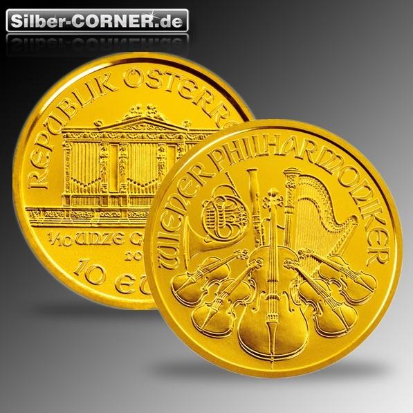 Philharmoniker 1/10 Oz Gold div.Jg