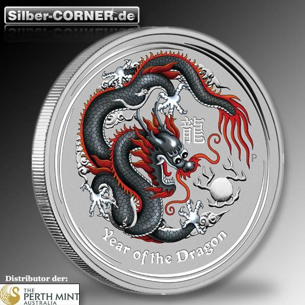 Lunar II Silber 1 Oz Schwarzer Drache /Black Dragon*