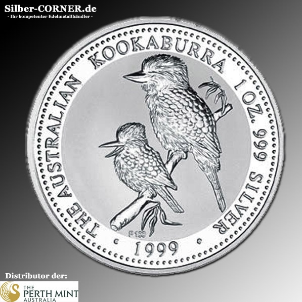 1999 1 Oz Silber Kookaburra