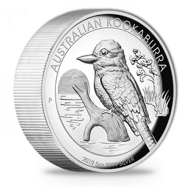 Australien Kookaburra 5 Unzen Silber 2019 High Relief +Box +COA*