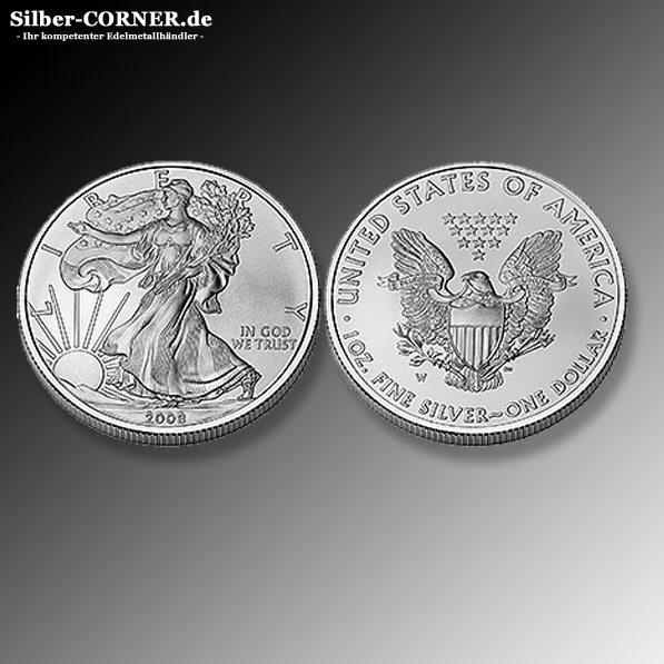 American Eagle 1 Oz Silber div Jahrgängen II.Wahl *