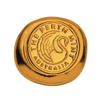 Goldbarren 1/2 Oz gegossen Perth Mint