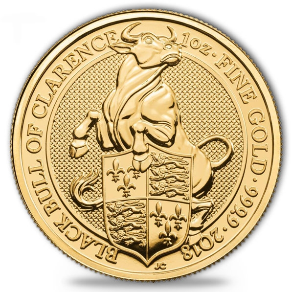 Queens Beast - Black Bull of Clearance 1 Oz Gold