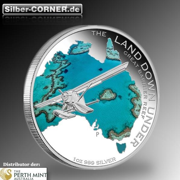 Land Down Under - Great Barrier Reef - 1 Oz Silber*