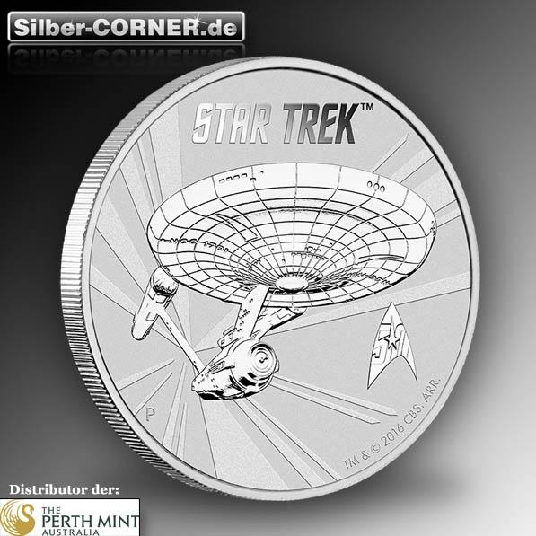 Enterprise Star Trek 1 Oz Silber Anlagemünze Frontansicht