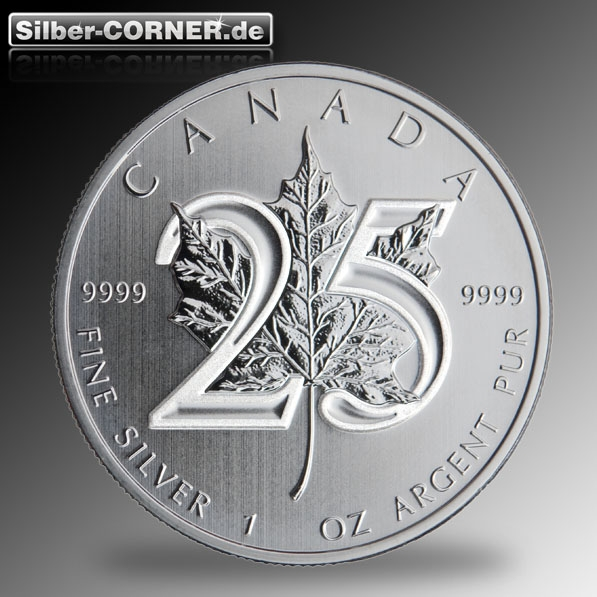 Maple Leaf -25th Anniversary- 1 Oz Silber 2013*